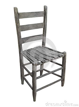 Free Old Rustic Wooden Chair Isolated. Stock Photos - 58807123