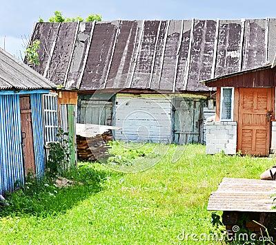 Old rustic yard