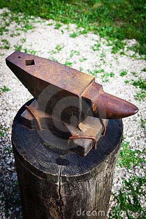 Old rusty anvil