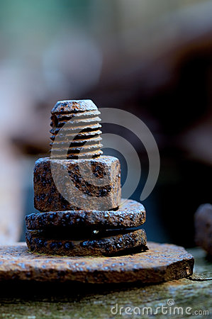 Free Old Rusty Bolt Stock Photography - 34941782