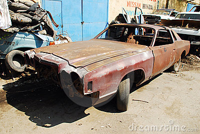 Old Rusty Car Editorial Stock Photo