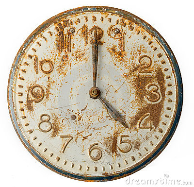 Old rusty Clock Face