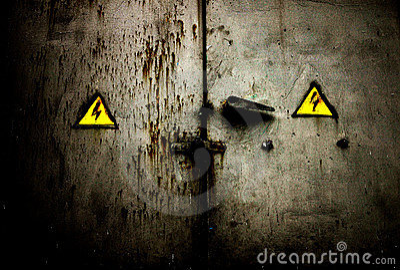 Old rusty grungy door