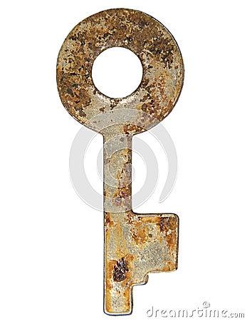 Old rusty key.