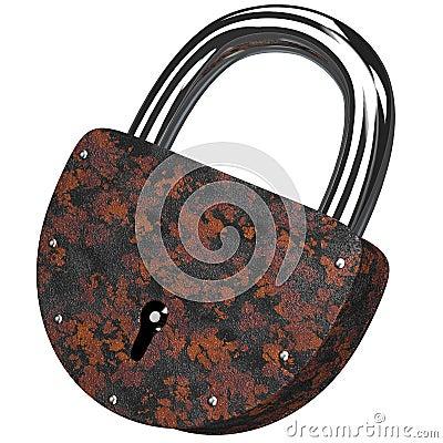 The old rusty lock