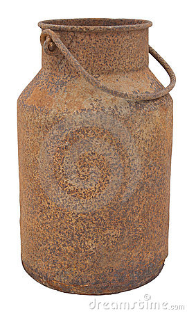 Old, Rusty Milk Jug