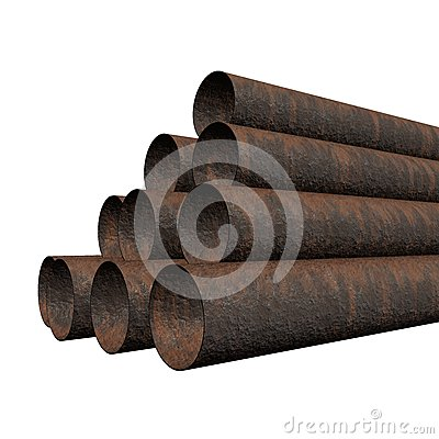 Old rusty pipes