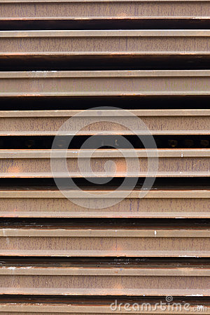 Old rusty rails