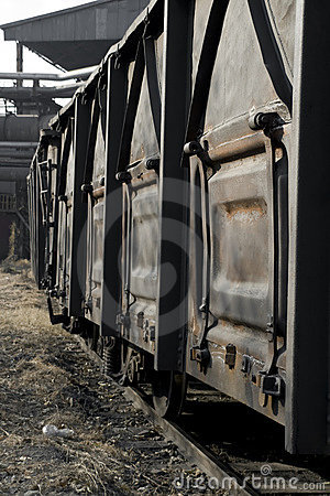 Old rusty railway wagon