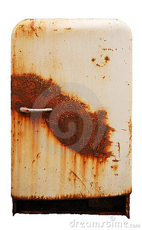Free Old Rusty Refrigerator Stock Photo - 4366390