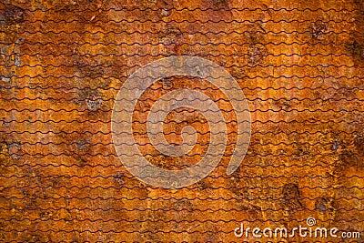 Old rusty sheet
