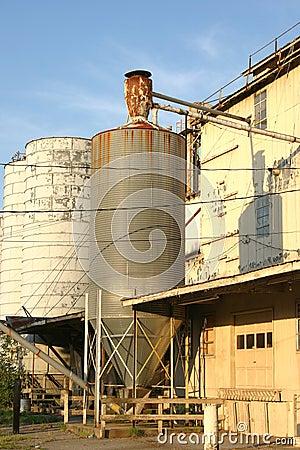Old rusty silo