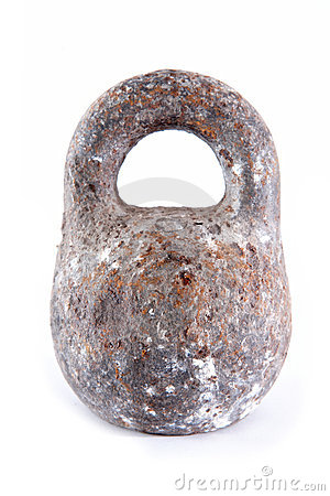Old rusty weight