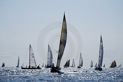 Old sailing boats in Imperia Editorial Image