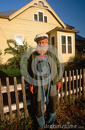An old sailor in overalls Editorial Stock Photo