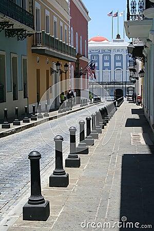 Old San Juan Street Editorial Stock Photo