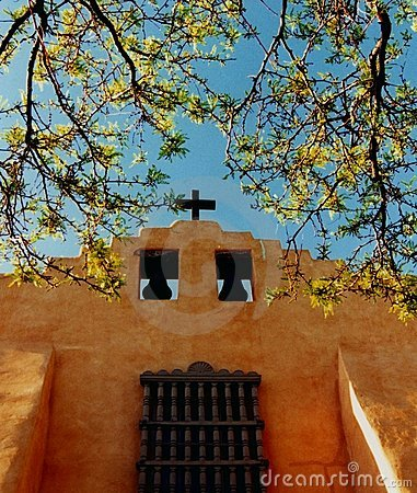 Free Old Santa Fe Church,New Mexico Royalty Free Stock Photos - 1234188