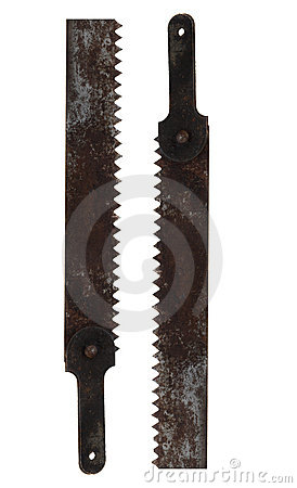 Free Old Saw Royalty Free Stock Photo - 3479245