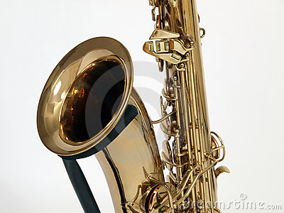 Old Sax on Stand