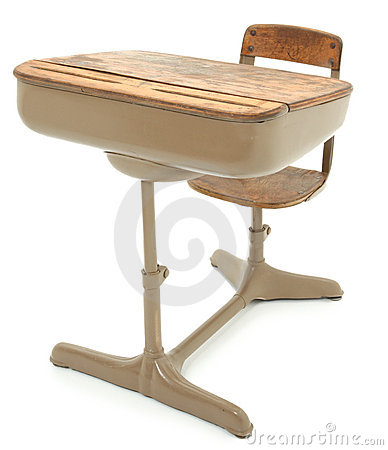 Old School Desk Royalty Free Stock Image - Image: 17129836