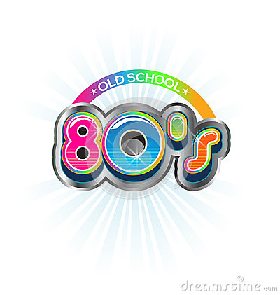 Old School 80s Vintage Logo Stock Vector Image 42854265