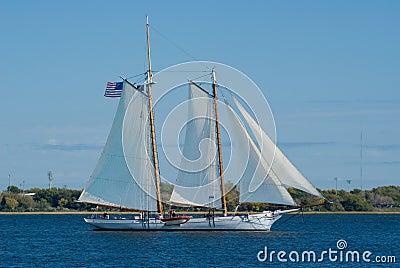 Old  Schooner under sail