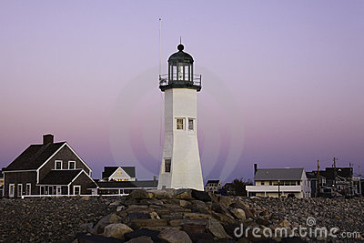 Old Scituate Lighthouse in at Dawn