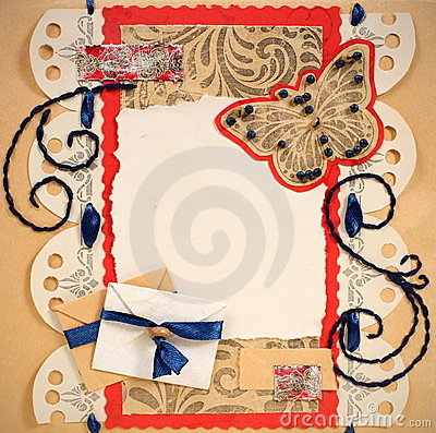 Old Scrapbook Photo Frame Stock Photography - Image: 24183862