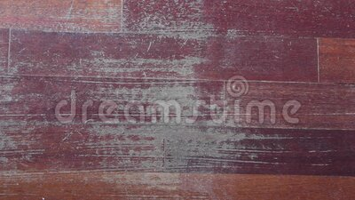 Old scratched surface of hardwood flooring in need of  repair stock footage