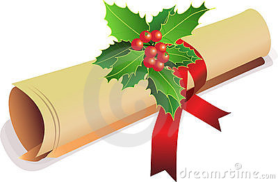Old Scroll Christmas Invite Royalty Free Stock Image - Image: 3467156