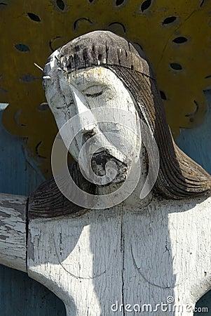 Old sculpture of  Jesus Christ