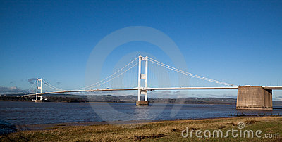 Old Severn Bridge connecting Wales and England
