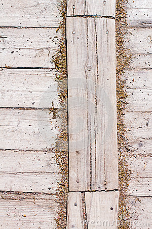 Old Shabby Wooden Planks or wooden old texture as a retro patter