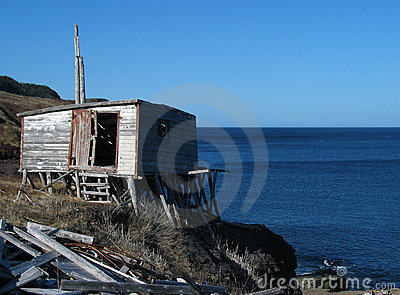 Old Shack by the Sea