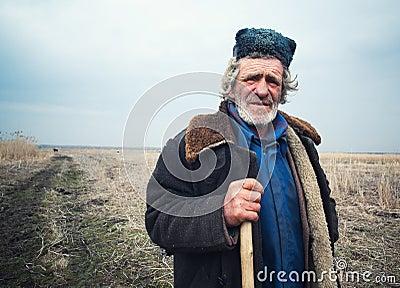 Old shepherd Editorial Photography