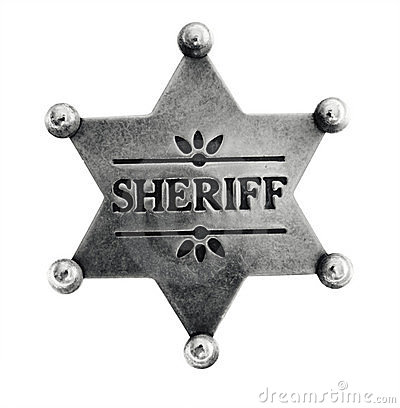 Old Sheriff Star badge