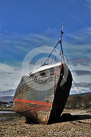 Free Old Ship At The Shore Stock Photo - 70197180