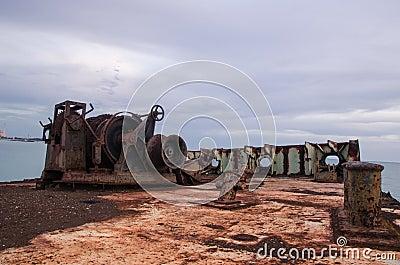 Old ship on the beach