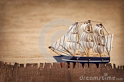 Old ship decoration