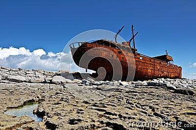 Old ship off the west coast ireland