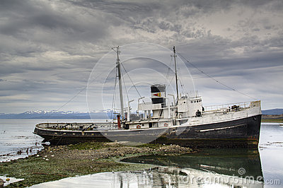 Old ship in Ushuaia, Argentina