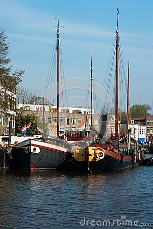Old ships in Gouda, Netherlands