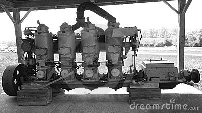 Old ships piston Engine.