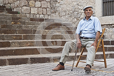 Old sicilian man Editorial Photo