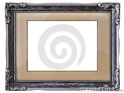 Old silver frame