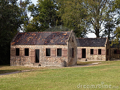Old slavery cabins