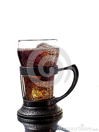 Old Soda Glass and Holder