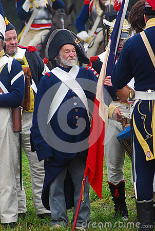 Old soldier at Borodino historical reenactment Editorial Photography