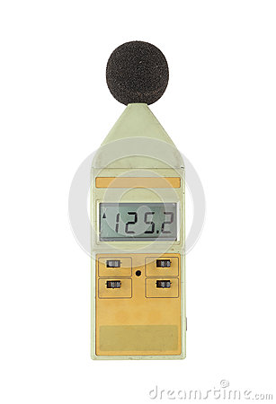 Free Old Sound Level Meter (display Show High Level) On White Royalty Free Stock Photography - 34735627