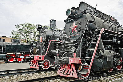 Old soviet locomotives